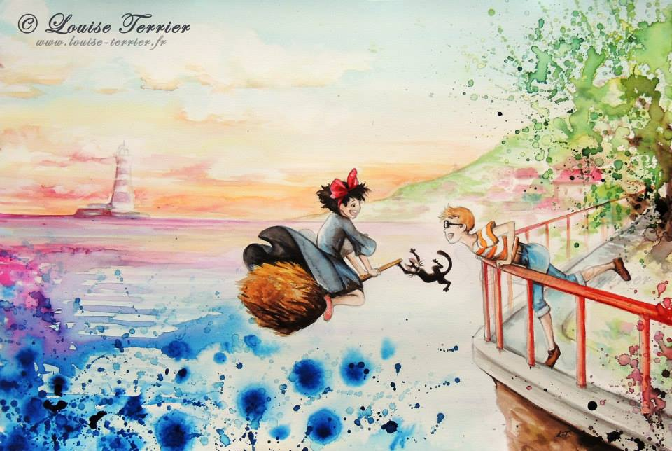 Louise Terrier aquarelles Ghibli_8