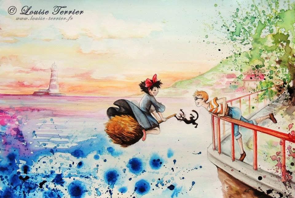 Louise Terrier acuarelas Ghibli_8