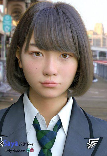 Saya lyceenne japonaise 3D_2