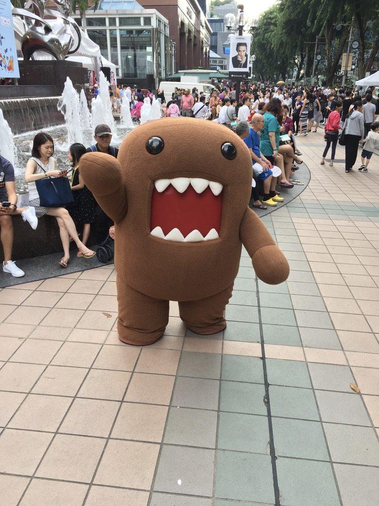 Domo-kun, la mascotte de NHK World, lors d'un événement à Singapour le 29 octobre 2016.