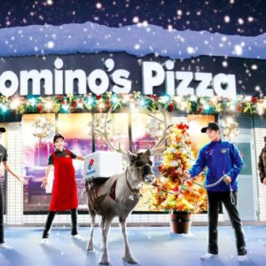 au japon domino 39 s pizza entra ne des rennes devenir livreurs cet hiver dozodomo. Black Bedroom Furniture Sets. Home Design Ideas