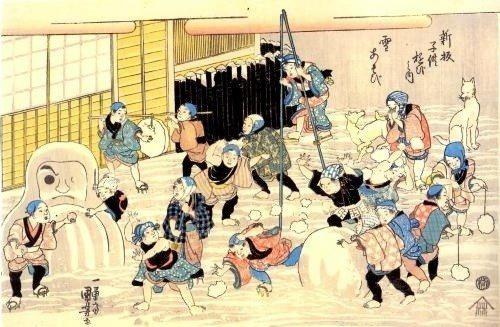 estampe edo hiver neige japon_1