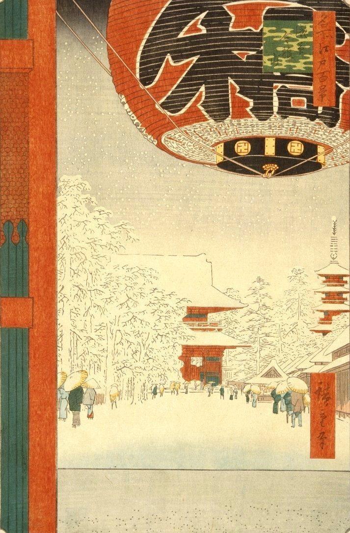 estampe edo hiver neige japon_2